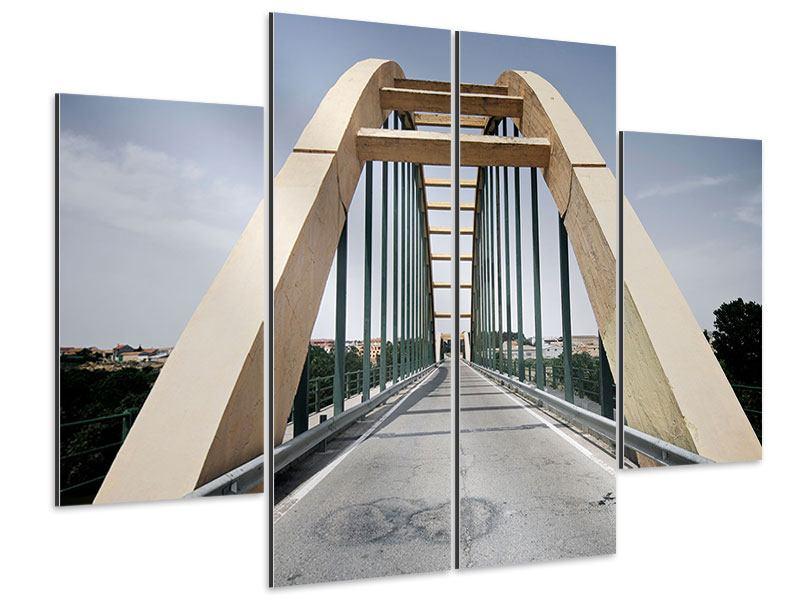 Aluminiumbild 4-teilig Imposante Hängebrücke