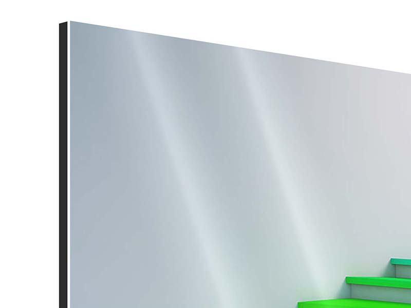 Aluminiumbild 4-teilig Bunte Treppe