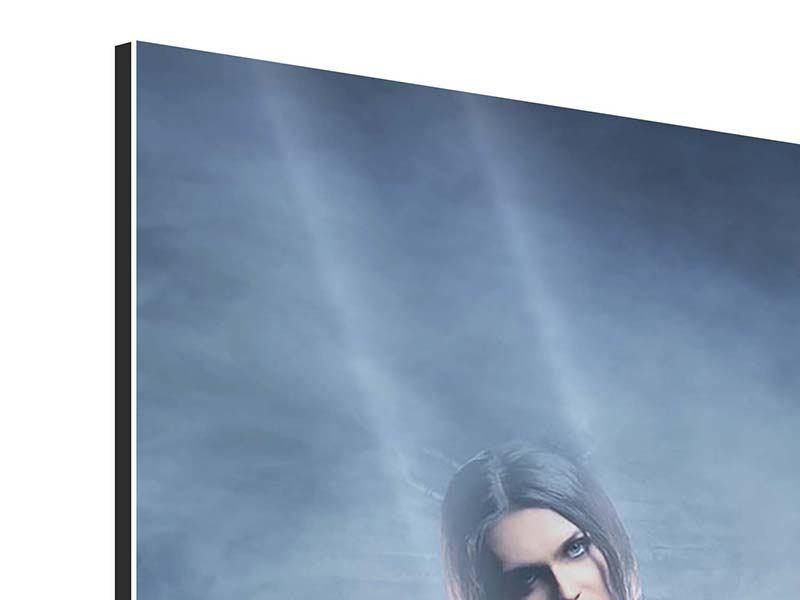 Aluminiumbild 4-teilig Das Geheimnis des Skulls