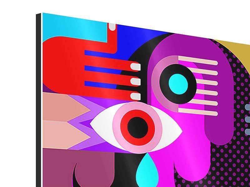 Aluminiumbild 4-teilig Moderne Kunst People