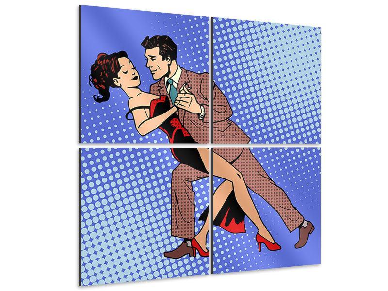 Aluminiumbild 4-teilig Pop Art Merengue