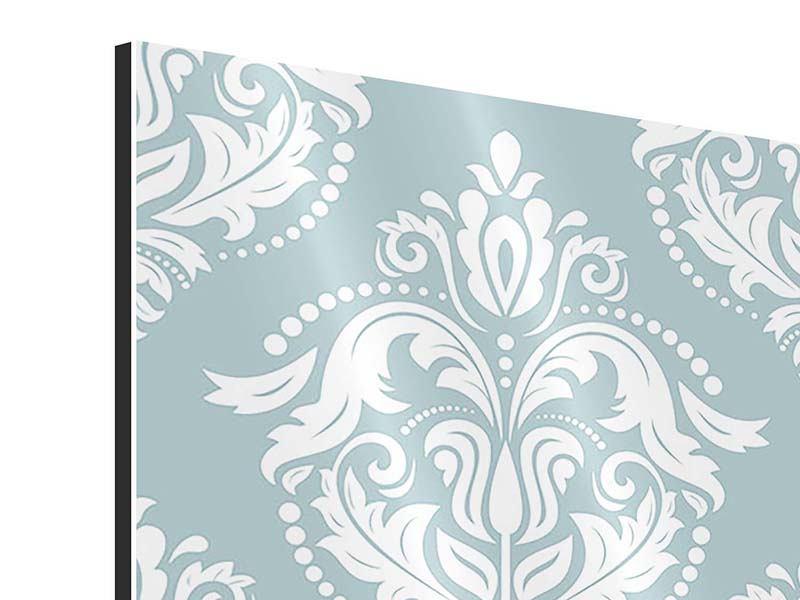 Aluminiumbild 4-teilig Zarte Ornamente