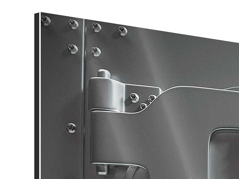 Aluminiumbild 4-teilig Tresor