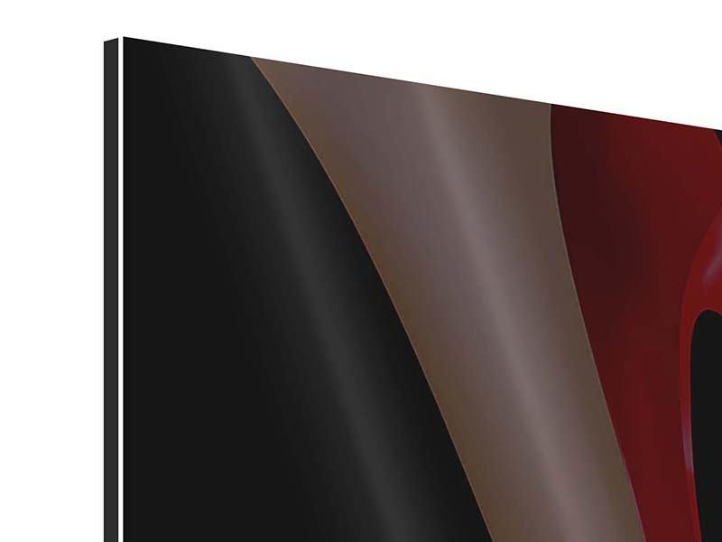Aluminiumbild 4-teilig Der rote High Heel