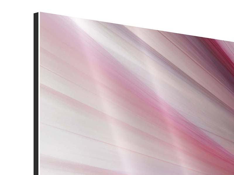 Aluminiumbild 4-teilig Abstraktes Lichterleuchten