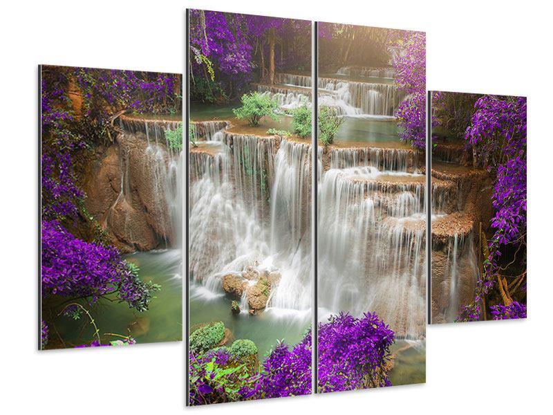 Aluminiumbild 4-teilig Garten Eden