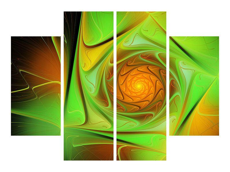 Aluminiumbild 4-teilig Abstraktionen