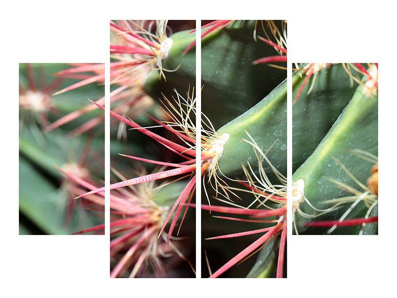 Aluminiumbild 4-teilig Die Kaktusblüte