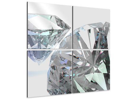 Aluminiumbild 4-teilig XXL Diamant