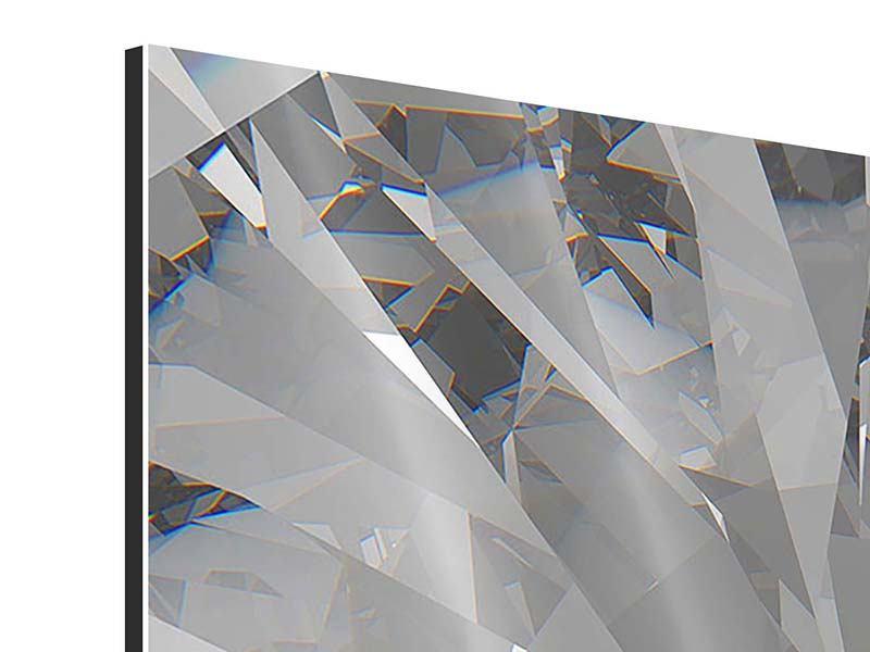 Aluminiumbild 4-teilig Riesendiamant
