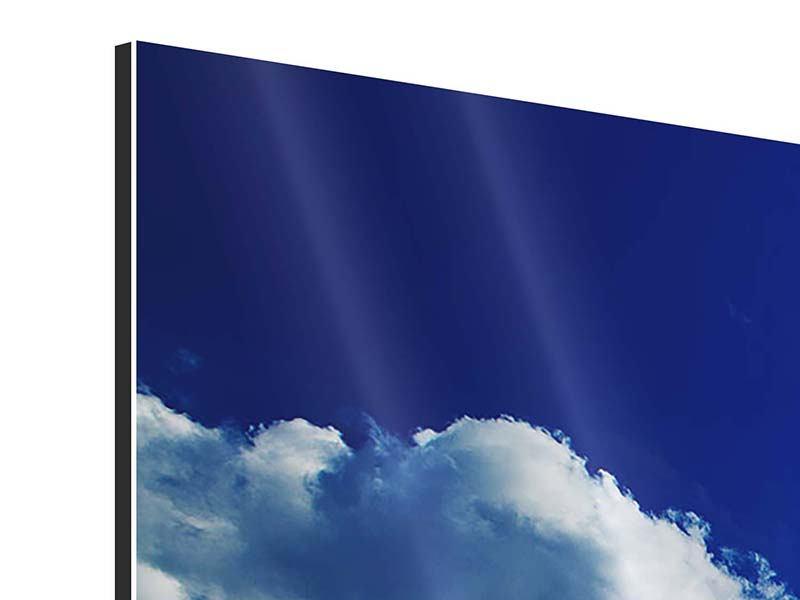 Aluminiumbild 4-teilig Der Mond