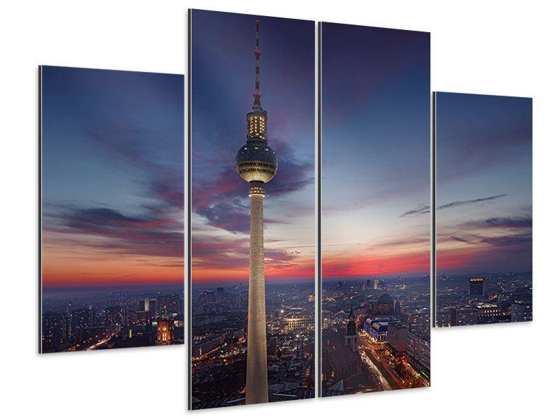 Aluminiumbild 4-teilig Berlin