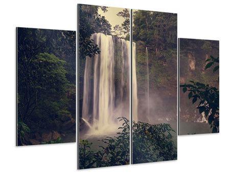 Aluminiumbild 4-teilig Wasserfall in Mexiko