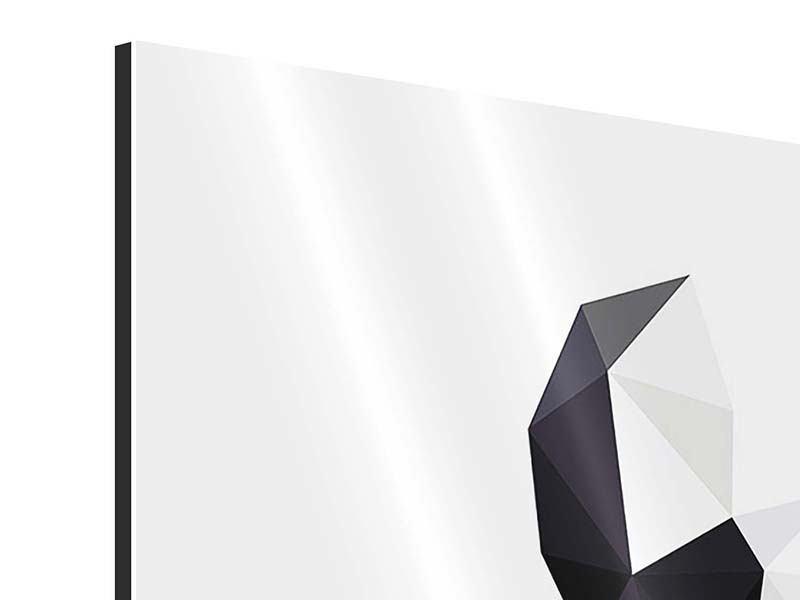Aluminiumbild 4-teilig Origami Bulldogge