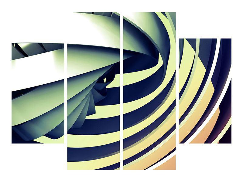 Aluminiumbild 4-teilig Abstrakte Perspektiven