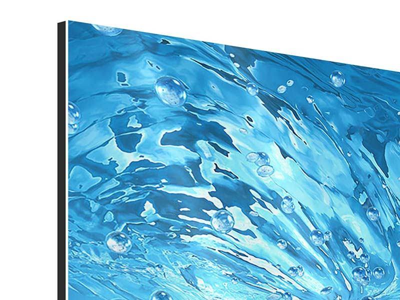 Aluminiumbild 4-teilig Wasserblasen
