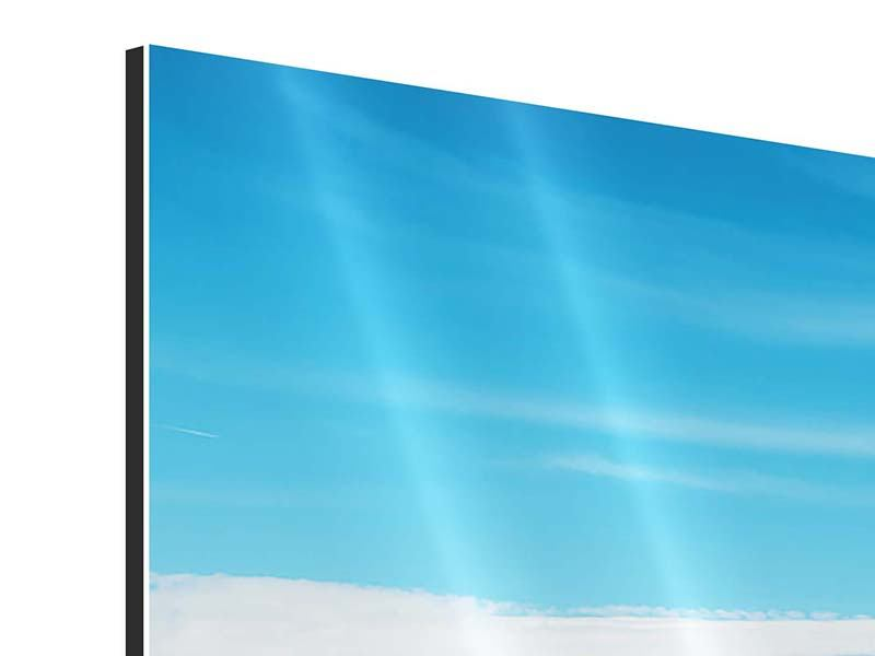 Aluminiumbild 4-teilig Alpenpanorama