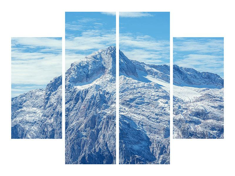 Aluminiumbild 4-teilig Friedliche Bergstimmung