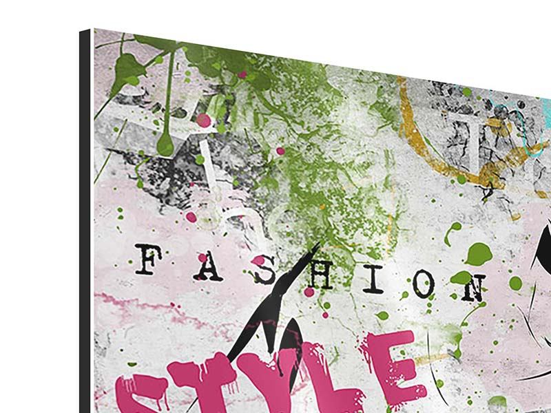 Aluminiumbild 4-teilig Fashion