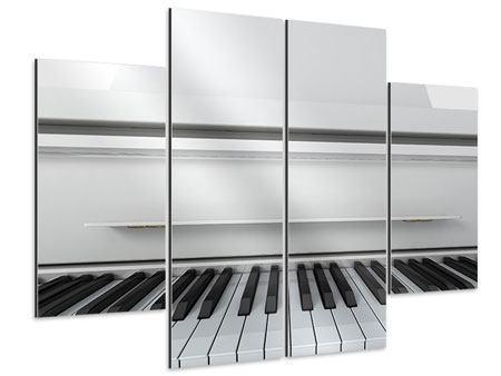 Aluminiumbild 4-teilig Weisser Flügel
