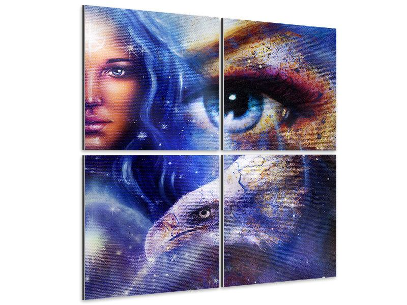 Aluminiumbild 4-teilig Eyecatcher