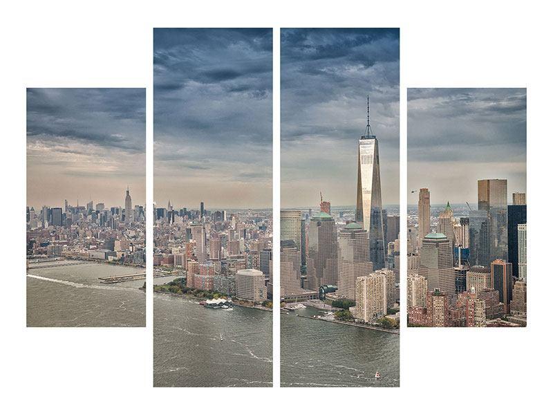 Aluminiumbild 4-teilig Skyline Manhattan