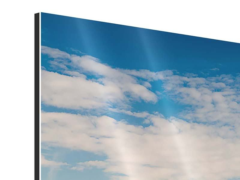 Aluminiumbild 4-teilig Skyline New York