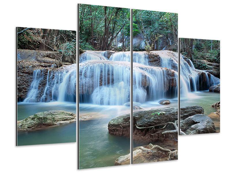 Aluminiumbild 4-teilig Ein Wasserfall