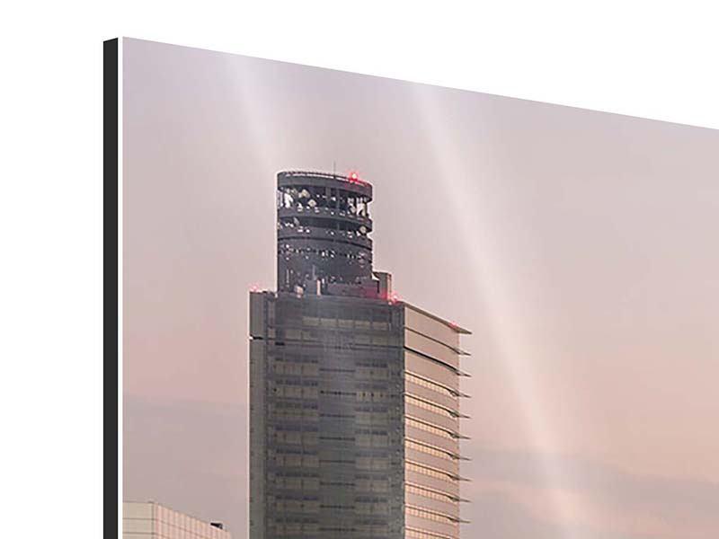 Aluminiumbild 4-teilig Skyline Das Lichtermeer von Tokio