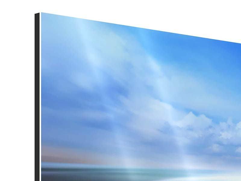 Aluminiumbild 4-teilig Im Rennauto