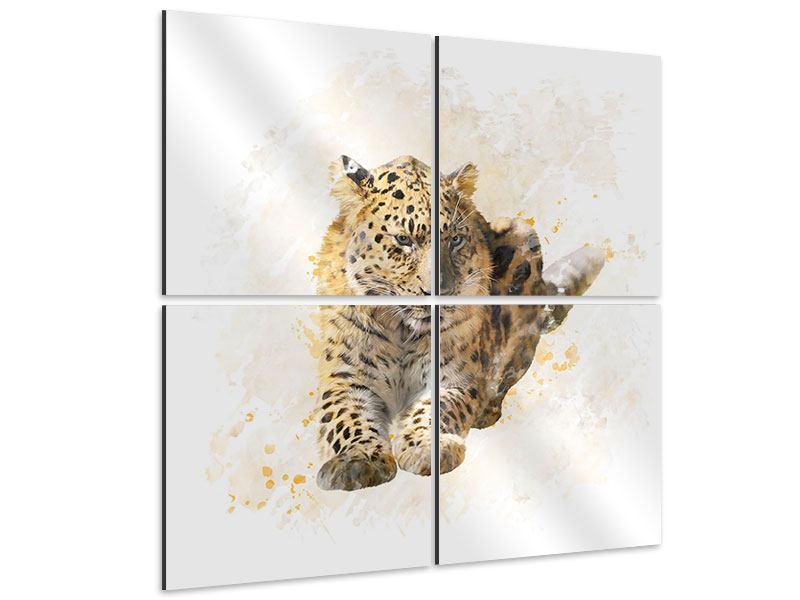 Aluminiumbild 4-teilig Luxgemälde