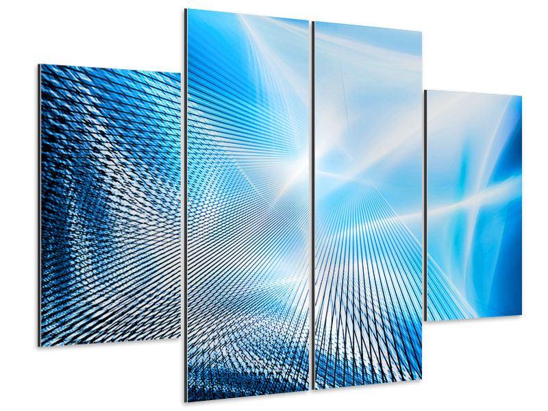 Aluminiumbild 4-teilig Laser