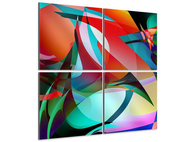 Aluminiumbild 4-teilig Paint