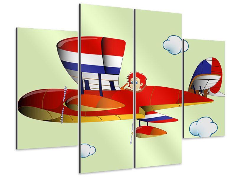 Aluminiumbild 4-teilig Der fliegende Junge