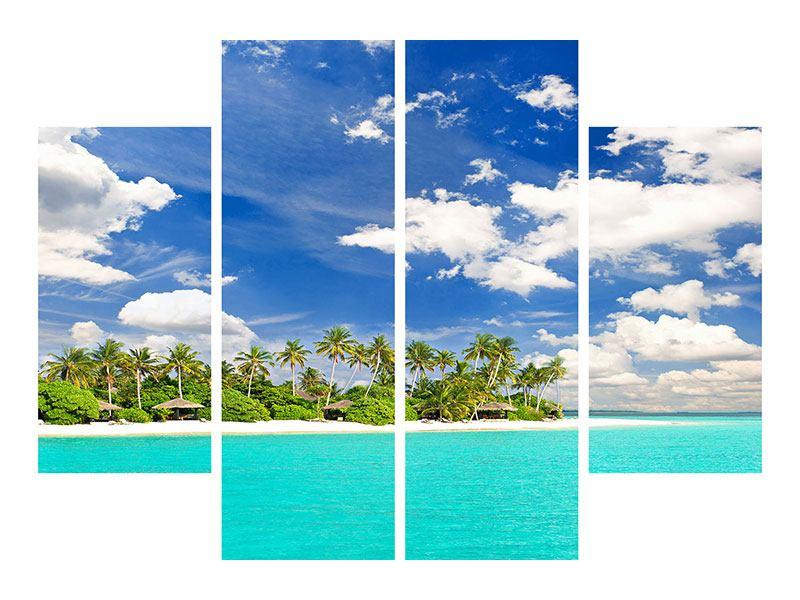 Aluminiumbild 4-teilig Meine Insel