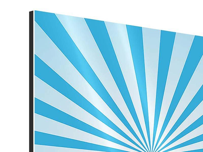 Aluminiumbild 4-teilig Retrowelle Streifenperspektive