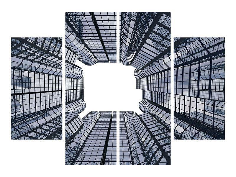 Aluminiumbild 4-teilig Besondere Perspektive