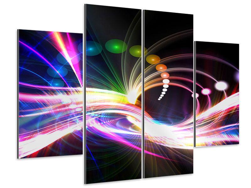 Aluminiumbild 4-teilig Abstrakte Lichtreflexe