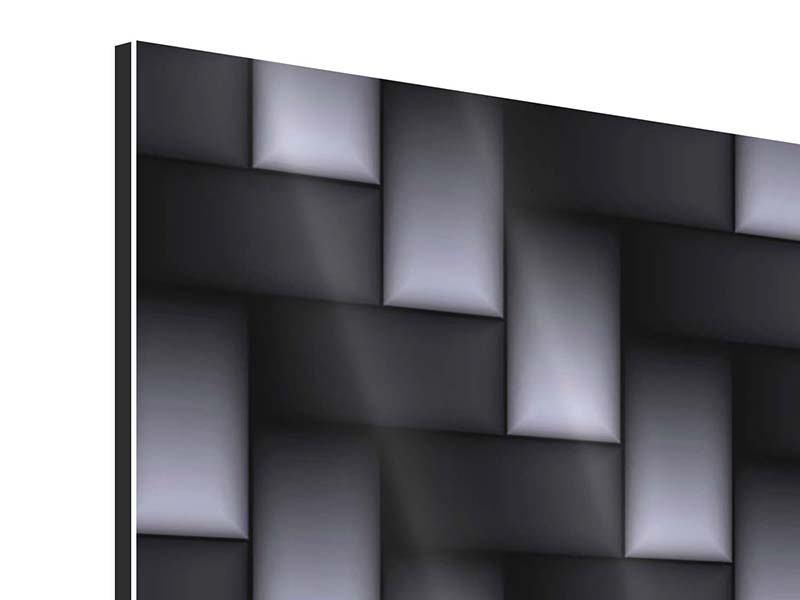 Aluminiumbild 4-teilig 3D-Treppen