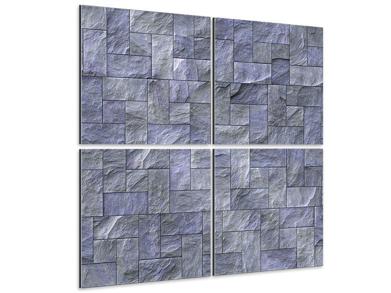 Aluminiumbild 4-teilig Schiefer