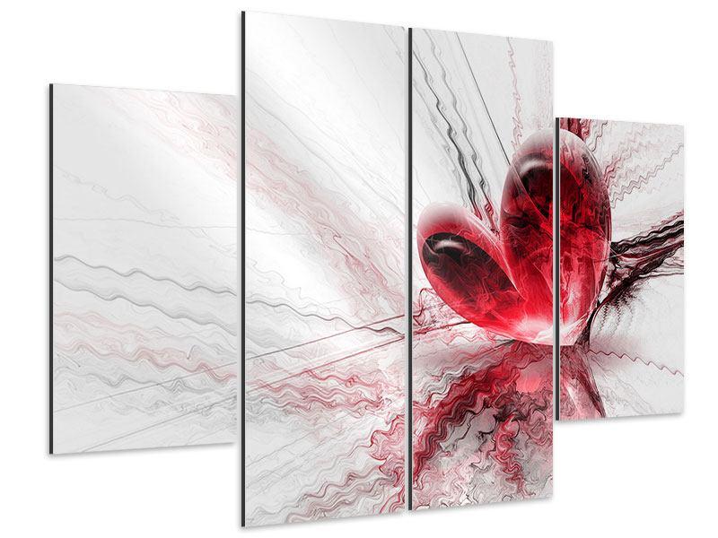Aluminiumbild 4-teilig Herzspiegelung