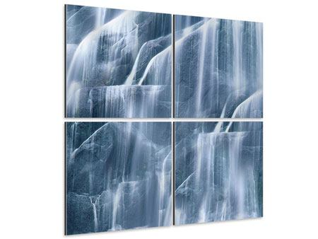 Aluminiumbild 4-teilig Waterfall
