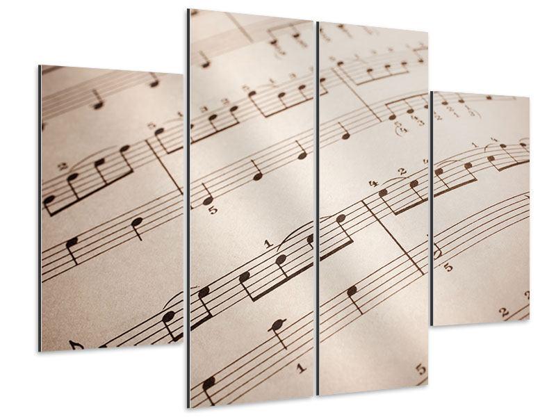 Aluminiumbild 4-teilig Das Notenblatt