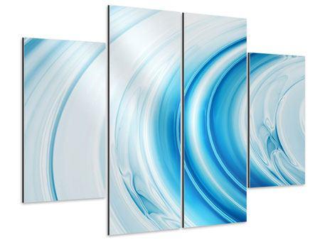 Aluminiumbild 4-teilig Abstraktes Glas