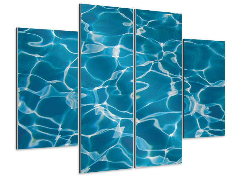 Aluminiumbild 4-teilig Pool