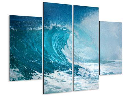 Aluminiumbild 4-teilig Die perfekte Welle