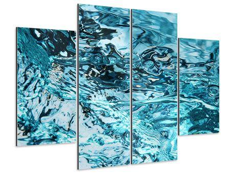 Aluminiumbild 4-teilig Schönheit Wasser