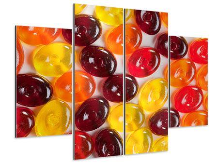 Aluminiumbild 4-teilig Bonbons