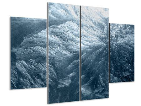 Aluminiumbild 4-teilig Eis