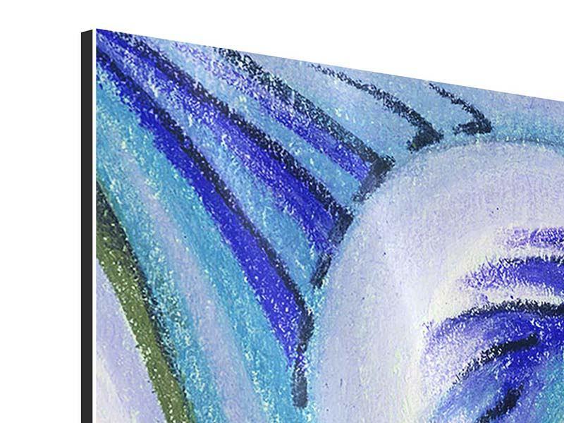 Aluminiumbild 4-teilig Paisleymuster in XL